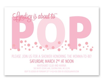 Printable / Ready to Pop Baby Shower Invitation