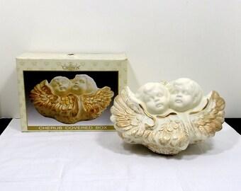 Ceramic Box with Cherubs