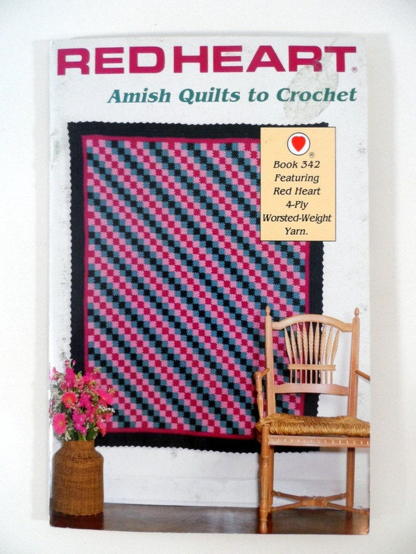 Book Cover Crochet Quilt Pattern : Afghan pattern book amish quilts to crochet blanket