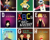 ABCs of Bad-Assery Part 1/ 25 ABC Prints of Killers from Horror & Action movies