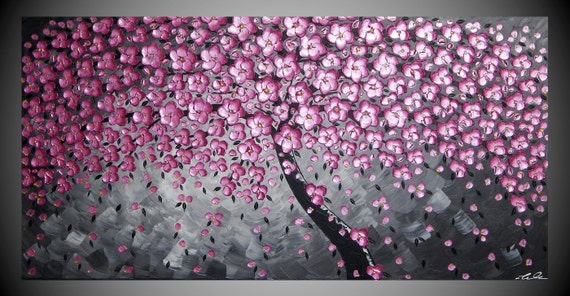 dipinti alberi quadri astratto pittura grande arte pittura pareti ...