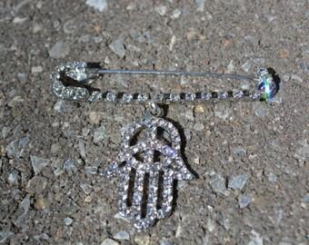 Protective Hamsa Pin-brooch