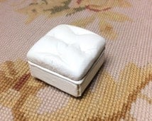 Ottoman Foot Stool Table - by Pat Tyler Leather Dollhouse Miniatures