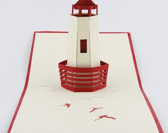3D Lighthouse pop up card greeting card for friend