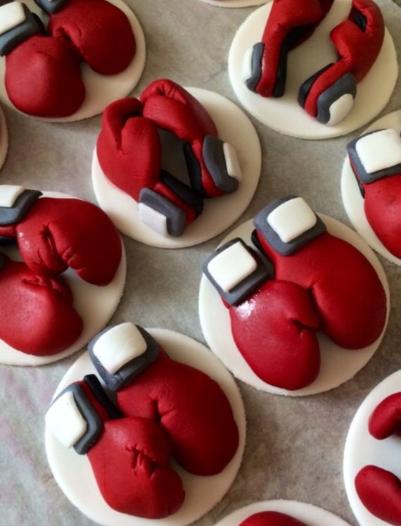 Boxer Karate Fighter Fondant Cupcake And Cookie Toppers