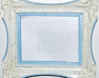 Blue Aged Mirror
