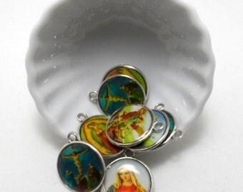 Religious charms/Pendants - 25mm , 2 pieces