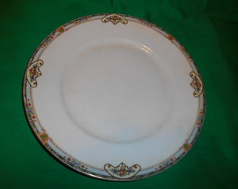 """One (1), 9 3/4"""" Porcelain Dinner Plate, from Royal Schwarzburg, in the Hope Pattern."""