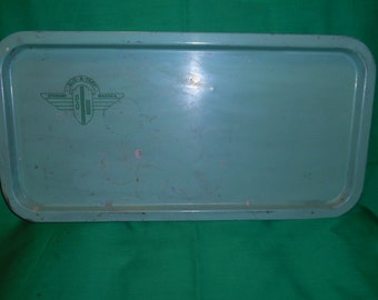 One (1), Vintage Pressed Steel Tray, from Stewart Warner, marked Slid - A -Tray. Art Deco-ish