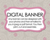 Photo banner - DIGITAL - any color or design - Party Decor