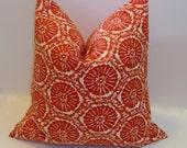 Lobster Red Pillow cover. Sand dollar print. Red beach decor. Modern designer fabric, handmade decorative pillows, home decor, accent pillow