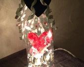 valentine lighted wine bottle