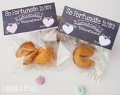 Valentines Day - Printable Fortune Cookie Valentine - Classroom Valentines - Non Candy