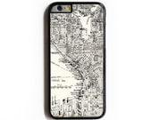 iPhone 6 Case. iPhone 6 Cases. Vintage Seattle Map. Phone Case. iPhone Case. Phone Cases. Seattle. Case for iPhone 6.