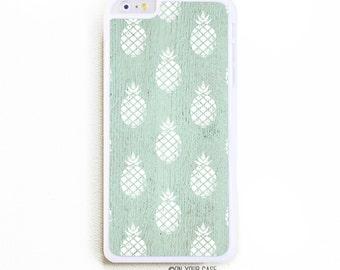 iPhone 6 Plus Case. iPhone 6+ Case. Pineapple Pattern Mint. Phone Case. iPhone Case. Phone Cases.6 Plus Case.
