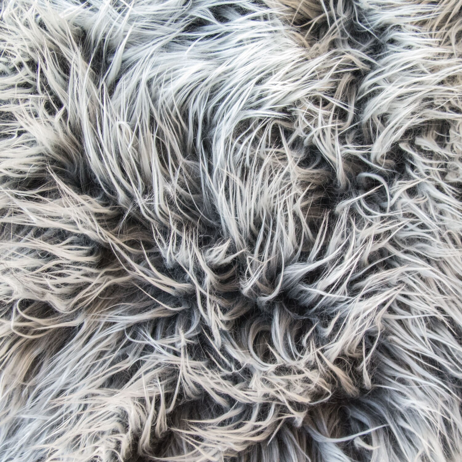 Sugar Frosted Mongolian Fake Faux Fur Grey 60 Inch Fabric By