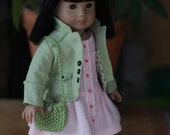 Springtime Jacket, Peachy Pink Sundress, Scarf and Purse for 18 inch doll