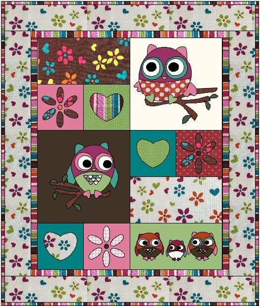 Owl Tree Quilt Pattern Digital Download