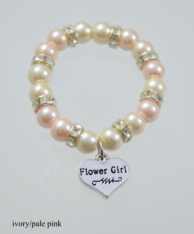 flower bracelet wedding pearl bracelet flower