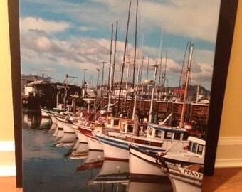 San Francisco Boats on Canvas