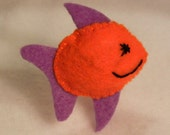 Fish Cutie Catnip Toy - Hand Cut & Sewn - You Pick The Color