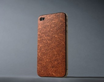 Redwood Burl iPhone 4/4s Real Wood Skin - Made in the USA - FREE Shipping