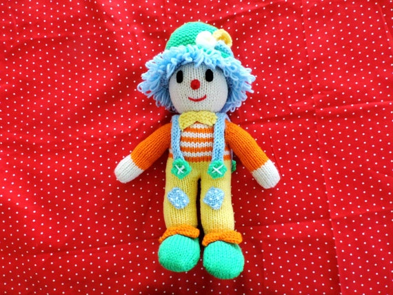 Knitted Clown Doll