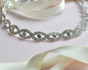 Ready To Ship Bridal crystal belt , rhinestone sash, bridal sash, bridal belt,