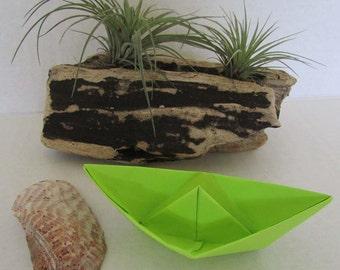 paper boat origami sail boat green grass sunny beach rainbow summer