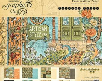 "Sale-Graphic 45 ""Artisan Styles"" 12 x 12 Paper Pad"