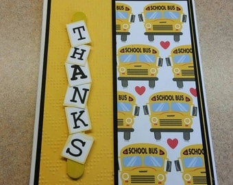 Thank you card for bus driver or teacher