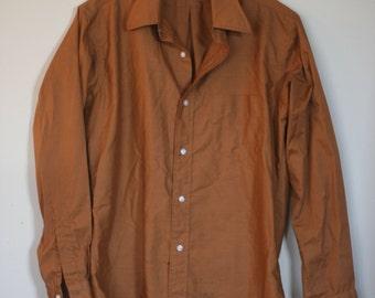 vintage brown gant shirt from daytons northbriar shop mens size 15/33