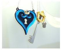 Kingdom Hearts Inspired Necklace Set for Best Friends or Couples