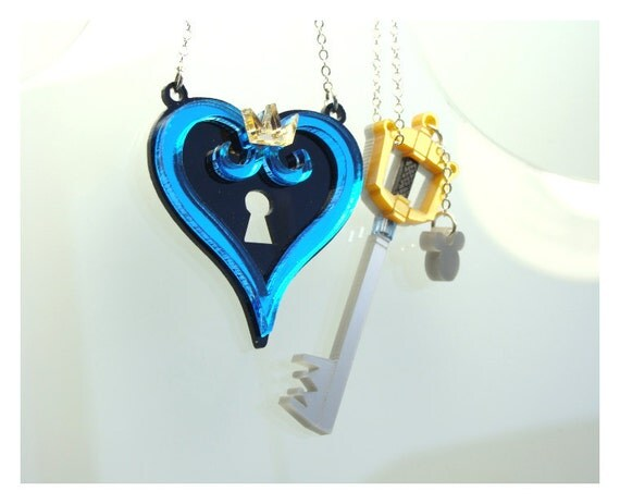 kingdom hearts inspired necklace set for best by