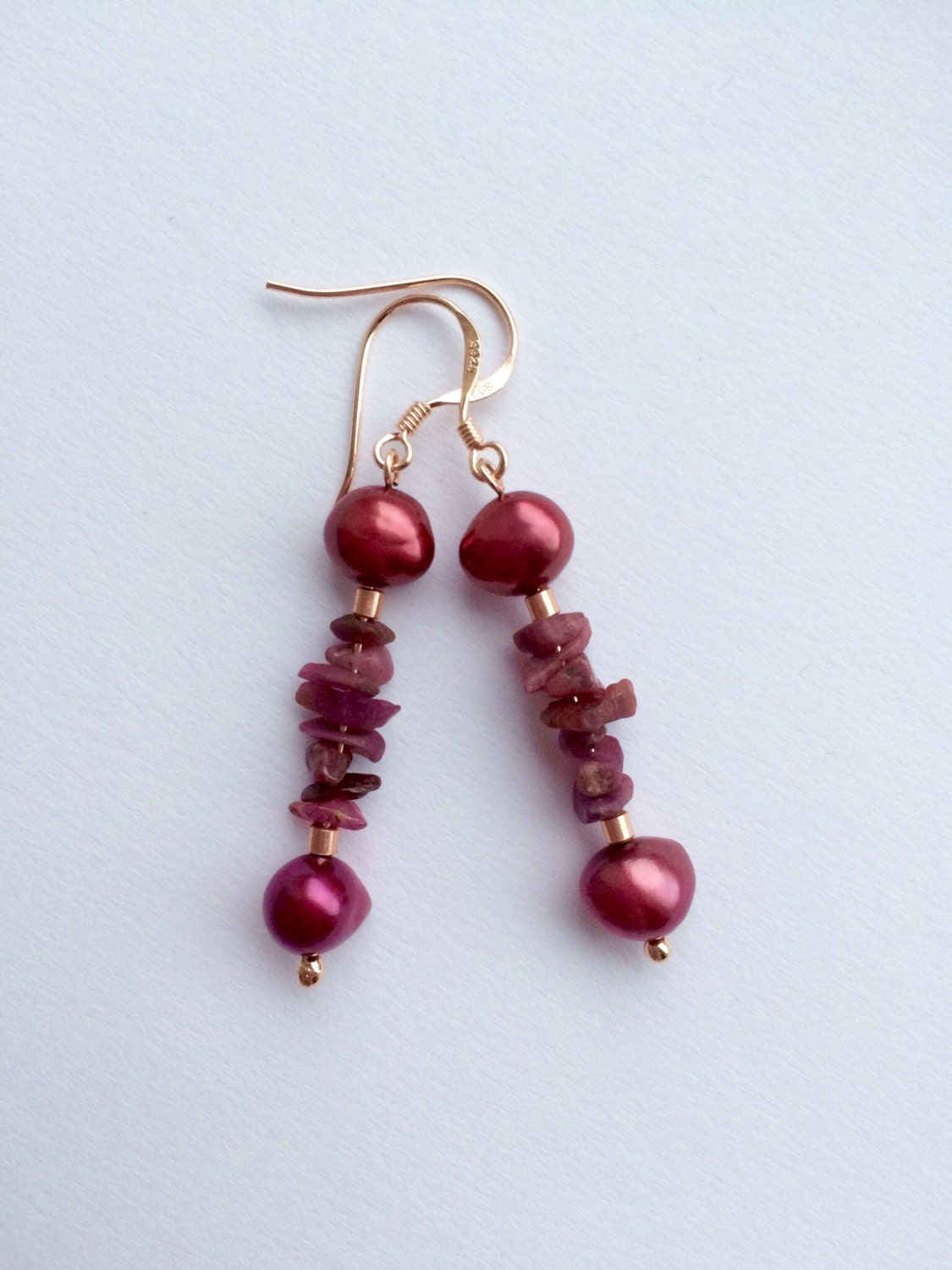 ruby earrings ruby and pearl earrings pearl earrings