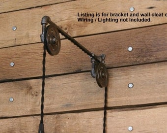 View pulley lights by industrialrewind on etsy industrial pulley wall sconce for your trouble light pendant trouble light fixture not included mozeypictures Images