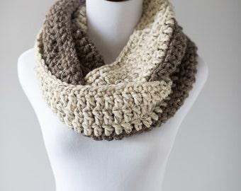 Infinity Scarf // Oatmeal & Barley Infinity Scarf // Handmade Knitwear // Women's Infinity Scarf // Winter Accessories // Crochet Scarf