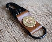 leather key ring shotgun 12 gauge key holder key chain key fob real leather bullet ring camo wedding groomsmen gift personalized leather