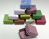 Set  of 20 Small Holiday Gift Boxes, Christmas Box, Jewelry Box, Origami  Box, Favor Box, Hand Made Box, Colorful Box