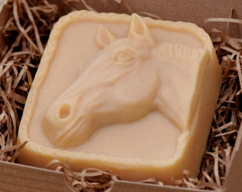 Horse Head Handcrafted French Milled Goat Milk Soap Gift for Horse Lover