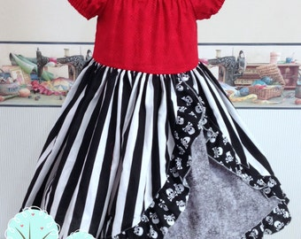 Pirate Peasant Dress, Summer Pirate Dress, Disney Pirate, Disney Vacation, Pirate Night Dress, Peasant Dress Summer/Spring Custom