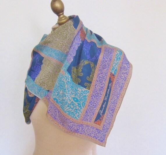 christian fischbacker vintage silk scarf sophisticated