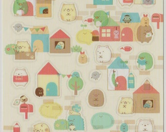 Kawaii Japan Sticker Sheet Assort: 2015 House Sumikko Gurashi Character konna ouchini sumitaina Clear Stickers for Planner Schedule Book R