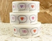 Valentines Heart Message Bubble Washi Tape - D1584