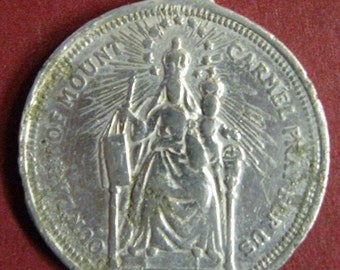 Beautiful Vintage Medal of Our Lady of Mount Carmel - circa 1960 s