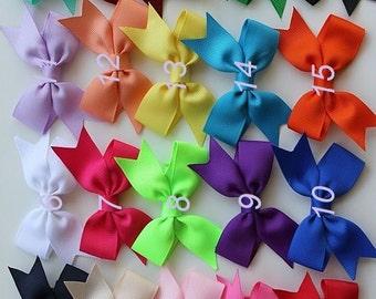 PICK 14 Bows for baby thin hair - 3 inch hair bow - none slip clips - none slip baby hair bows - hair bows with none slip grip - small bows