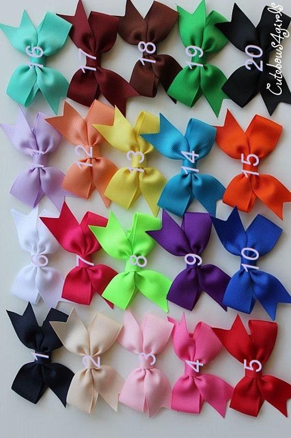 PICK 12 NON SLIP hair clip - baby hair clip - infant clip bows - small hair bows - bows for infant - Infant hair bows  - Newborn hair bows