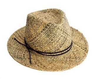 Black straw hat ,Fedora straw hat ,  Fedora straw hat for women, straw hat for men, Summer hats , Sun Hat , Beach hat