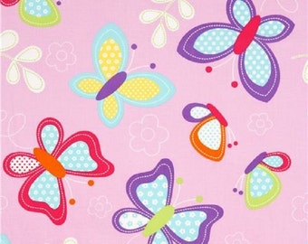 Fat Quarter Butterfly Kisses Cotton Quilting Fabric - Michael Miller