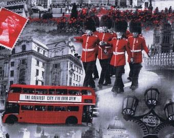 Fat Quarter London Bridge Incl Irish Guards Cotton Quilting Fabric 6598 11 UK